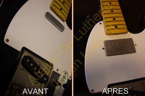 Adaptation micro double sur Telecaster Mexique
