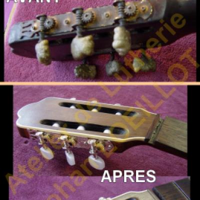 Guitare classique brûlée
