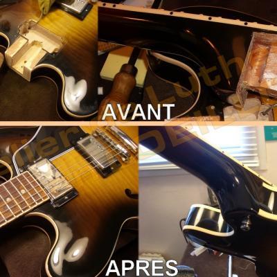 Gibson ES-335 cassée