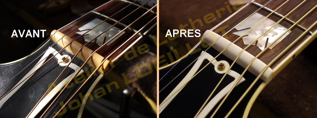 Fabrication sillet de tête Gibson SJ-200