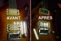 Remplacement des micros sur guitare forme Explorer