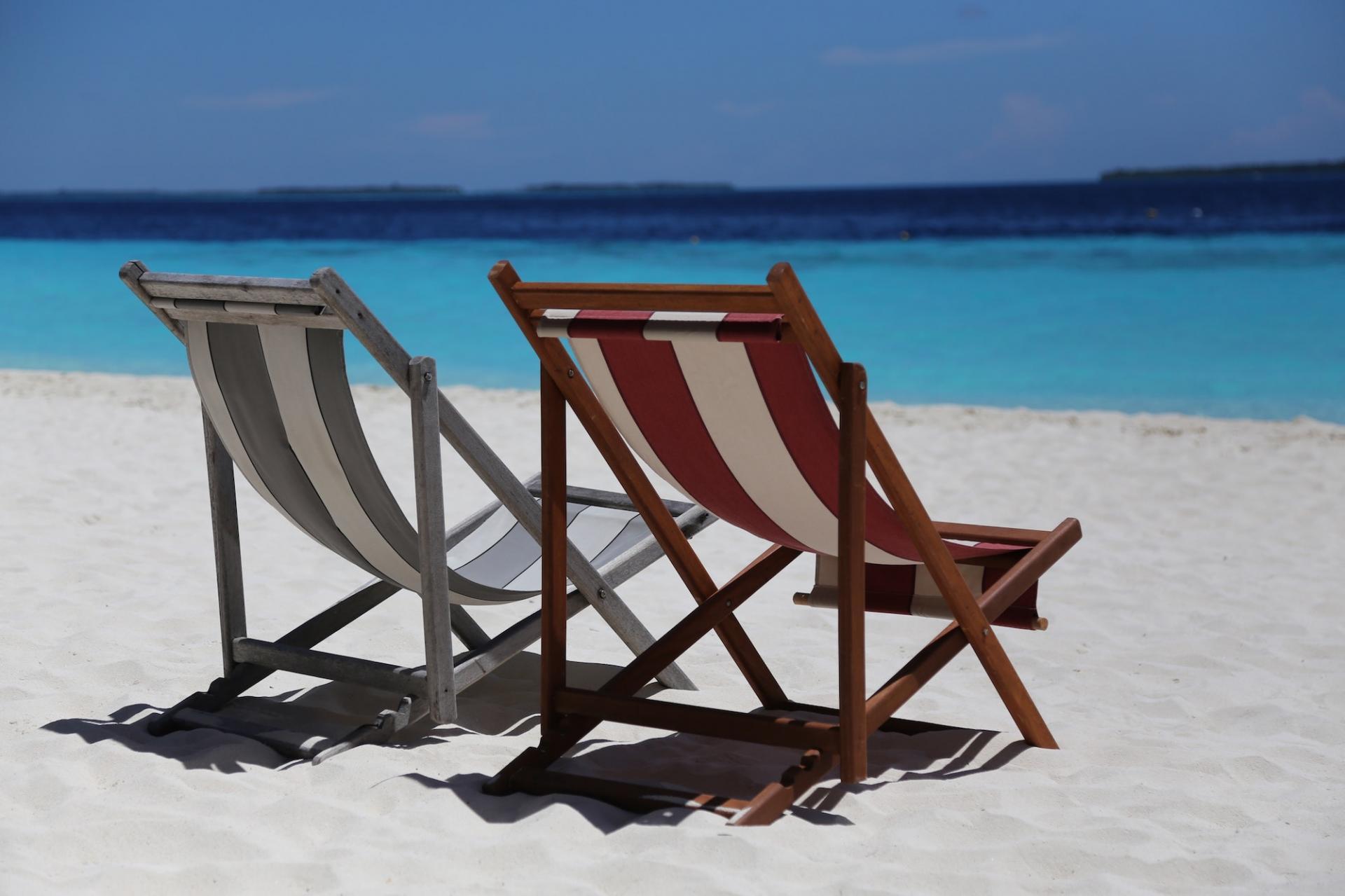 Beach beach chairs beautiful 358416