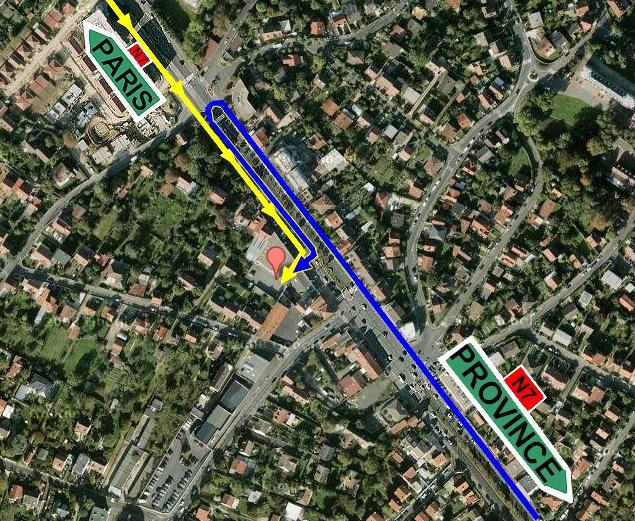 Plan d'accès Atelier RN7