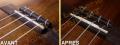 Fabrication sur mesure d'un sillet en os pour Ukulélé (avec compensations de justesse)