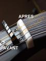 Fabrication sur mesure d'un sillet en os (Gibson SG)