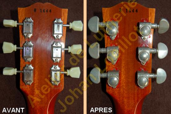 Remplacement des mécaniques sur Gibson