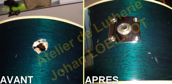Réparation prise jack guitare acoustique/folk