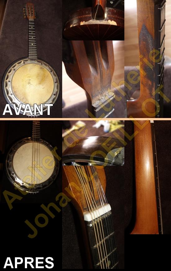 Restauration d'une vieille mandoline (banjo-mandoline/banjoline)