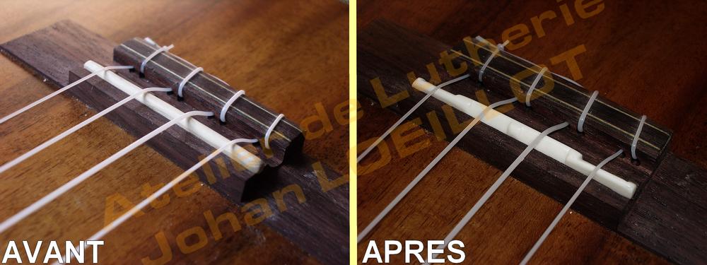 Fabrication d'un sillet de chevalet pour ukulélé